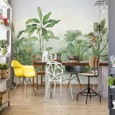custom retro wall mural tropical garden
