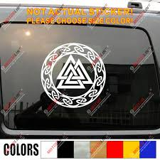 Valhalla Valknut Decal Sticker Odin Viking Norse Car Vinyl Pick Size Color Car Stickers Aliexpress