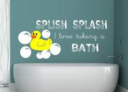Splish Splash Wall Decal Splish Splash Decal Bathroom Wall Decal Rubber Ducky Decal Toddler Bathroom Art
