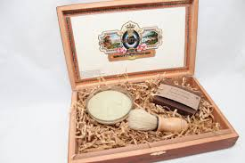 cigar box shaving kit beer soap