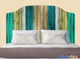 Painted Wooden Fence Headboard Decal Graphic Vinyl Sticker Bedroom Wall Home Decor