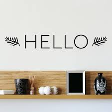 Belvedere Designs Llc Hello Leaves Entryway Front Door Wall Quotes Decal Wayfair
