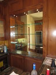 bar mirror shelf and glass shelves