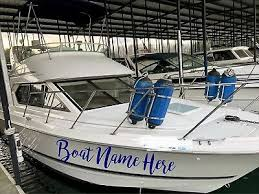 Boat Decals Set Of 2 Custom Name Sticker 40 Personalized Decal Lettering Ebay