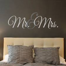 Mr Mrs Vinyl Wall Decal Wall From Landbgraphics On Etsy