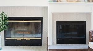 use fireplace paint to update old