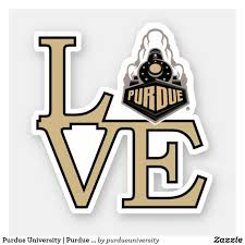 Purdue University Purdue Love Sticker Zazzle Com In 2020 Purdue University Purdue College Stickers