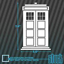 Doctor Who Tardis Vinyl Sticker Decal For Macbook Laptop Car Window Wall Door
