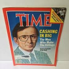 Time Magazine Jan 23 1984 Cashing in Big Arthur Rock | eBay