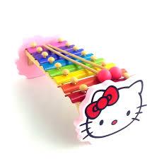 Đồ chơi thông minh - Đàn 8 phím hình mèo Hello Kitty bằng gỗ cho ...