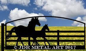 Horse Themed Driveway Gate Designs Jdr Metal Art Aluminum Steel Iron