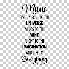 Music Gives A Soul To The Universe Text Overlay Musician Quotation Music Is A Moral Law It Gives Soul To The Universe Wings To The Mind Flight To The Imagination And Charm