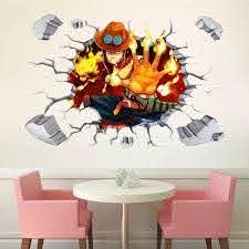 One Piece Ace Wall Decals The Treasure Thrift