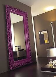 paint an oversized mirror in a bright