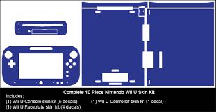 Matte Black Nintendo Wii U Gaming Console Skin Decal