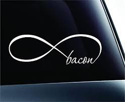 Amazon Com Expressdecor Infinity Bacon Symbol Decal Funny Car Truck Sticker Window White Automotive