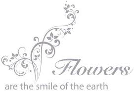 com flowers are the smile of the heart wall decal by style