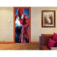 Spider Man Door Wrap Decal Sticker Wall Mural Personalized Any Name Marvel D65