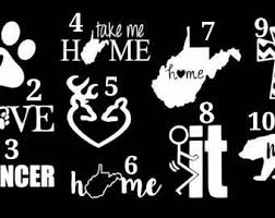 Wv Home Decal Etsy