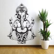 Three Elephant Wall Decals India Mandala Buddha Om Vinyl Bedroom Wall Ellaseal