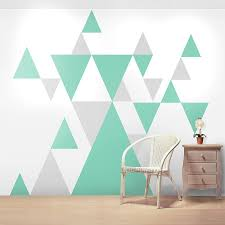 Geometric Pattern Giant Wall Sticker Set Geometric Wall Paint Wall Design Wall Stickers Geometric