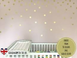 50 2 Inch Polka Dots Vinyl Wall Art Decals Wall Sticker Confetti Gold Circle Ebay