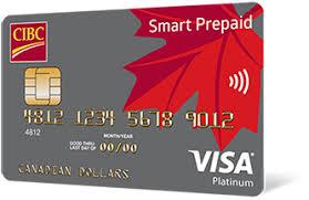 visa card prepaid cards cibc