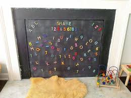 childproofing using a magnetic chalk board