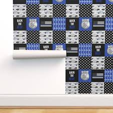 police patchwork thin blue line bac