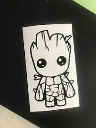 Baby Groot Vinyl Decal Guardians Of The Galaxy Marvel Disney Ebay