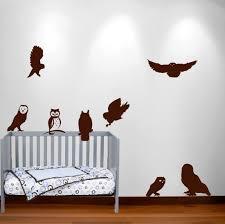 Owl Wall Decal Nursery Sticker Hunting Bird Set 1251 Innovativestencils