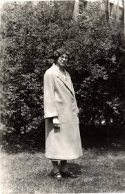 Bentley Image Bank, Bentley Historical Library: Ada Olson standing outdoors  in a coat, 1926