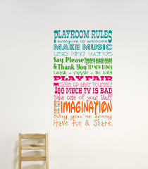 Childrens Wall Decor Playroom Rules Wall Decal Childrens Etsy Playroom Rules Childrens Wall Decor Childrens Wall Decals