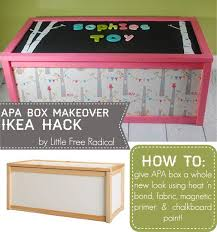 Recovering Toy Box Tutorial By Free Radical Using Woodland Party By Monaluna For Birch Fabrics Diy Toy Box Organization Kids Kids Room Organization