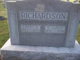 W Aaron Richardson (1897-1930) - Find A Grave Memorial