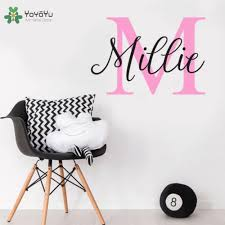 Yoyoyu Wall Decal Girls Personalized Name Vinyl Wall Stickers Nursery Kids Rooms Decals Interior Accessories Home Decor Diysy703 Home Decor Vinyl Wall Stickerskids Room Decalls Aliexpress
