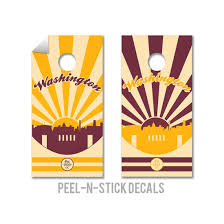 Shop Washington Redskins Cornhole Board Decals Overstock 13255894