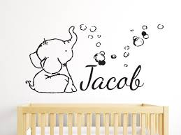 Add This Elephant Bubbles Personalised Wall Sticker To Your Little Ones Wall
