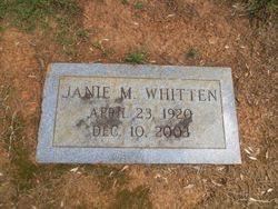 Janie Mae Sizemore Whitten (1920-2003) - Find A Grave Memorial