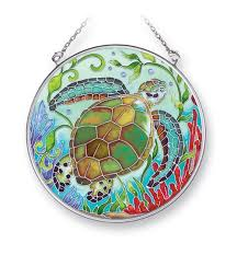 sea turtle reef glass suncatcher