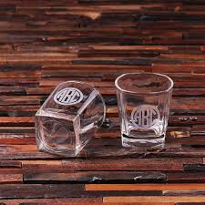 personalized whiskey glass gift set