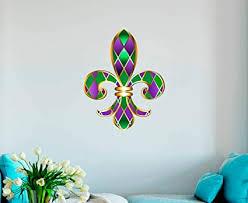 Amazon Com Gt Graphics Fleur De Lis Mardi Gras Wall Decal Wall Decoration Sticker Sports Outdoors