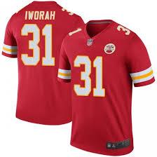 Prince Charles Iworah Men's Kansas City Chiefs Nike Color Rush Jersey -  Legend Red