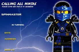 Free Printable Lego Ninjago Birthday Invitation Tarjetas De