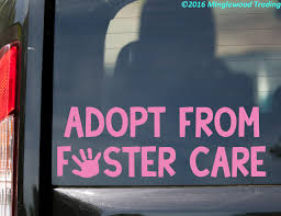Adopt From Foster Care Vinyl Sticker Children Kids Die Cut Decal Minglewood Trading