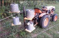 Fence Wire Unroller By Imabass I Built This A Few Months Ago I Have Modified It From The One In The Video By Adding Wire Fence Farm Fence Building A Fence