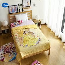 Yellow Beauty And Beast Belle Quilt Summer Comforter Bedding Cotton Cover Children S Baby Kids Bedroom Decor 150 200cm 200 230cm Comforters Duvets Aliexpress