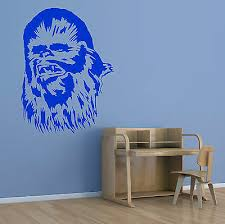 Star Wars Wall Vinyl Chewbacca Wall Decal Decor G68 Wookie Chewie Wall Art