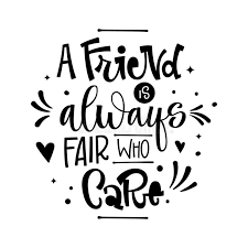 friendship hand lettering and calligraphy quote stock vector