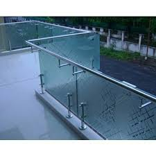 ss balcony glass handrail designs
